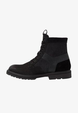 POWELL Y BOOT - Snørestøvletter - dark black