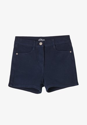 MIT WASCHUNG - Denim shorts - navy