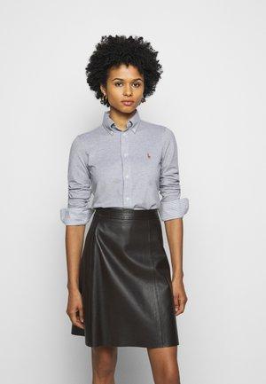 HEIDI LONG SLEEVE - Button-down blouse - boulder grey heat