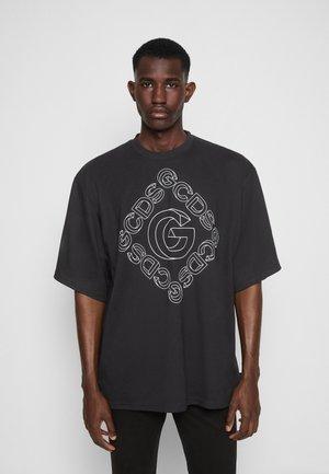 3D OVERSIZE TEE UNISEX - T-shirt imprimé - black