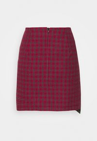 The Ragged Priest - MIXED CHECK SKIRT - Miniskjørt - red/green - 1