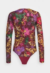 Versace Jeans Couture - Long sleeved top - rosso scuro - 1