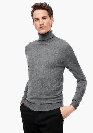 MIT TURTLENECK - Jumper - dark grey melange