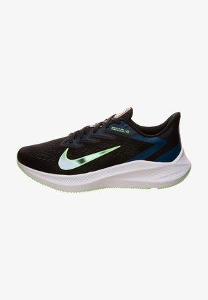 ZOOM WINFLO  - Stabilty running shoes - black / vapor green / valerian blue