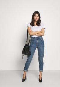Anna Field - 2ER PACK  - Basic T-shirt - navy/white - 0