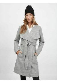 Vila - Classic coat - light grey melange - 0