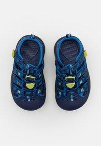 Keen - NEWPORT H2 UNISEX - Walking sandals - blue depths/chartreuse - 3