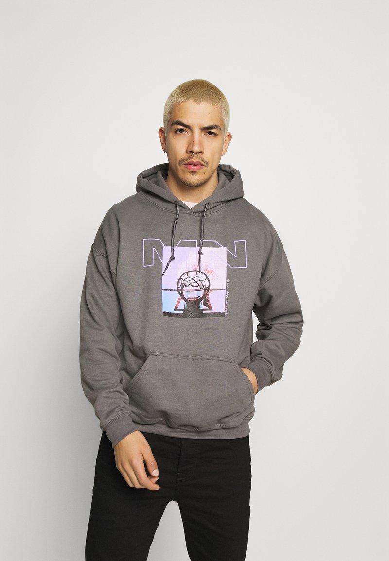 Mennace - NOTHING BUT NET HOODIE - Sweatshirt - grey