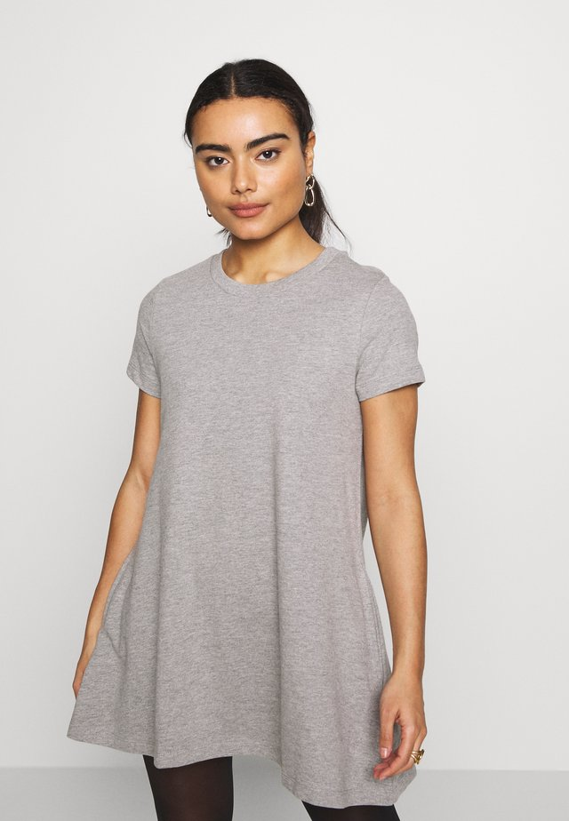 NMLUNI SPOCKET DRESS - Hverdagskjoler - light grey melange