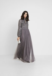 Maya Deluxe - BISHOP SLEEVE DELICATE SEQUIN  WITH KEYHOLE - Occasion wear - charcoal - 2
