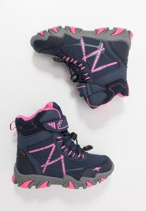K-TIAN RTX - Šněrovací kotníkové boty - dark navy/daisy pink