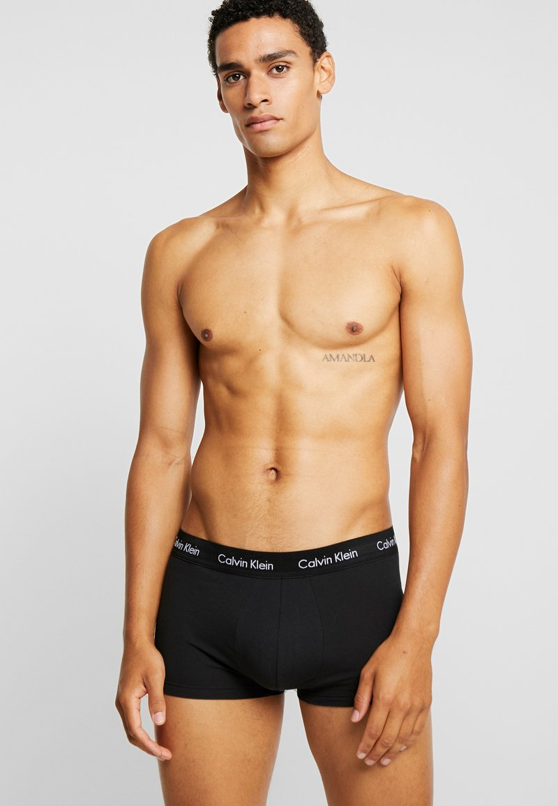 Calvin Klein Underwear - LOW RISE TRUNK 3 PACK - Culotte - black/white