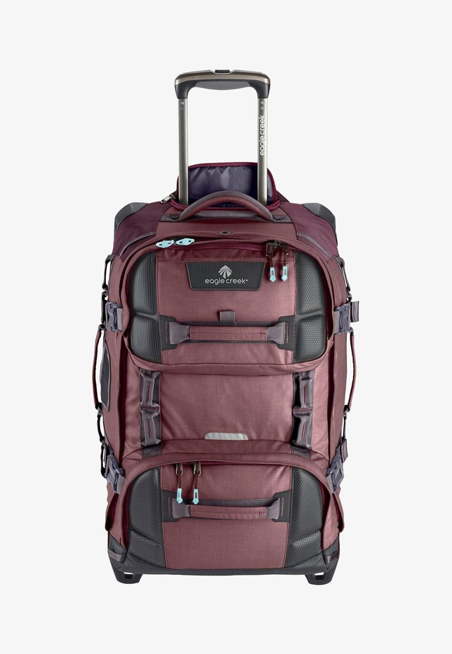 Wheeled suitcase - earth red
