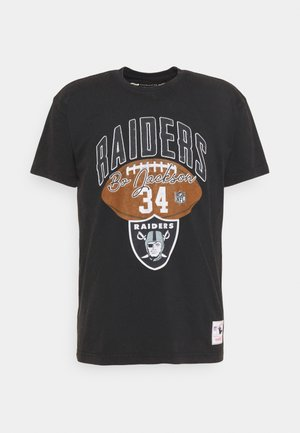 NFL LOS ANGELES RAIDERS ARCHIVE WASH OUT TEE - Club wear - black
