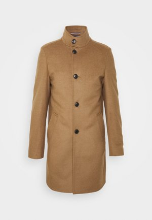 SOLID STAND UP COLLAR COAT - Manteau classique - brown