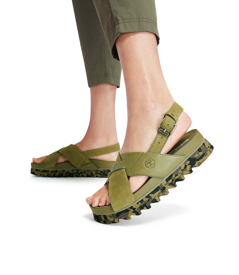 Timberland - SANTAMONICA SUNRISE XBAND - Platform sandals - nutria