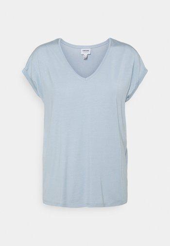 VMAVA V NECK TEE - T-shirts - blue fog