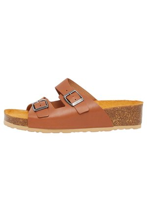 BIABETTY WEDGE BUCKLE - Slippers - cognac