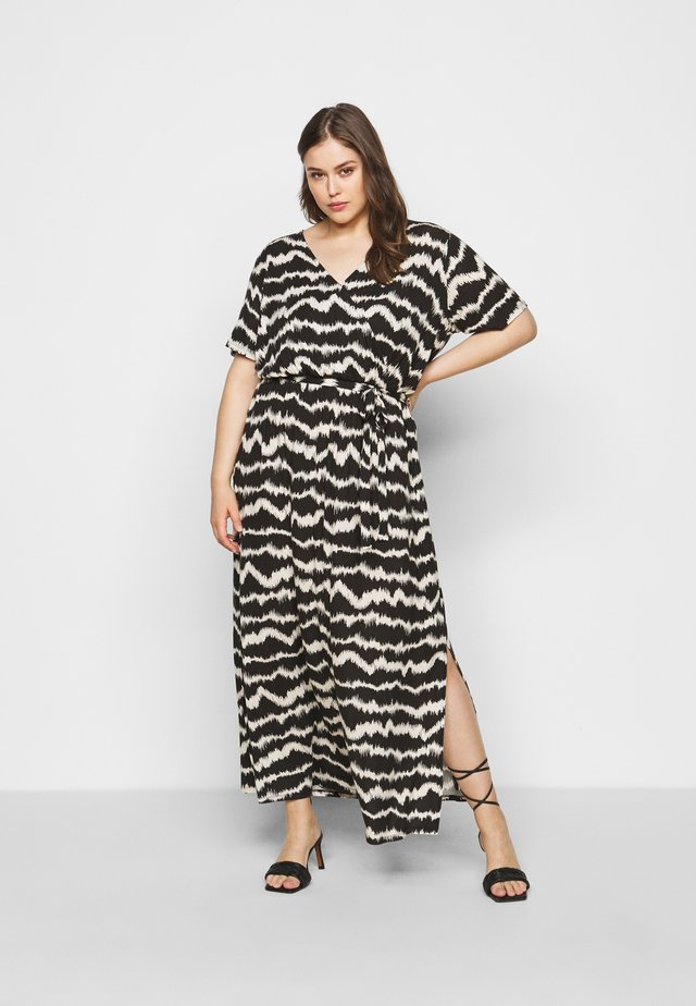 WRAP SPOT  - Maxi dress - black/offwhite