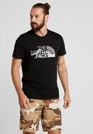 MOUNTAIN LINE TEE - Print T-shirt - black