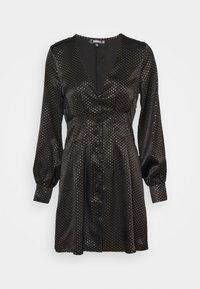 CINCHED WAIST A LINE MINI DRESS - Day dress - black
