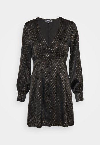 CINCHED WAIST A LINE MINI DRESS - Vestito elegante - black