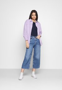 Even&Odd - Wide Leg Cropped jeans - Straight leg jeans - blue denim - 1