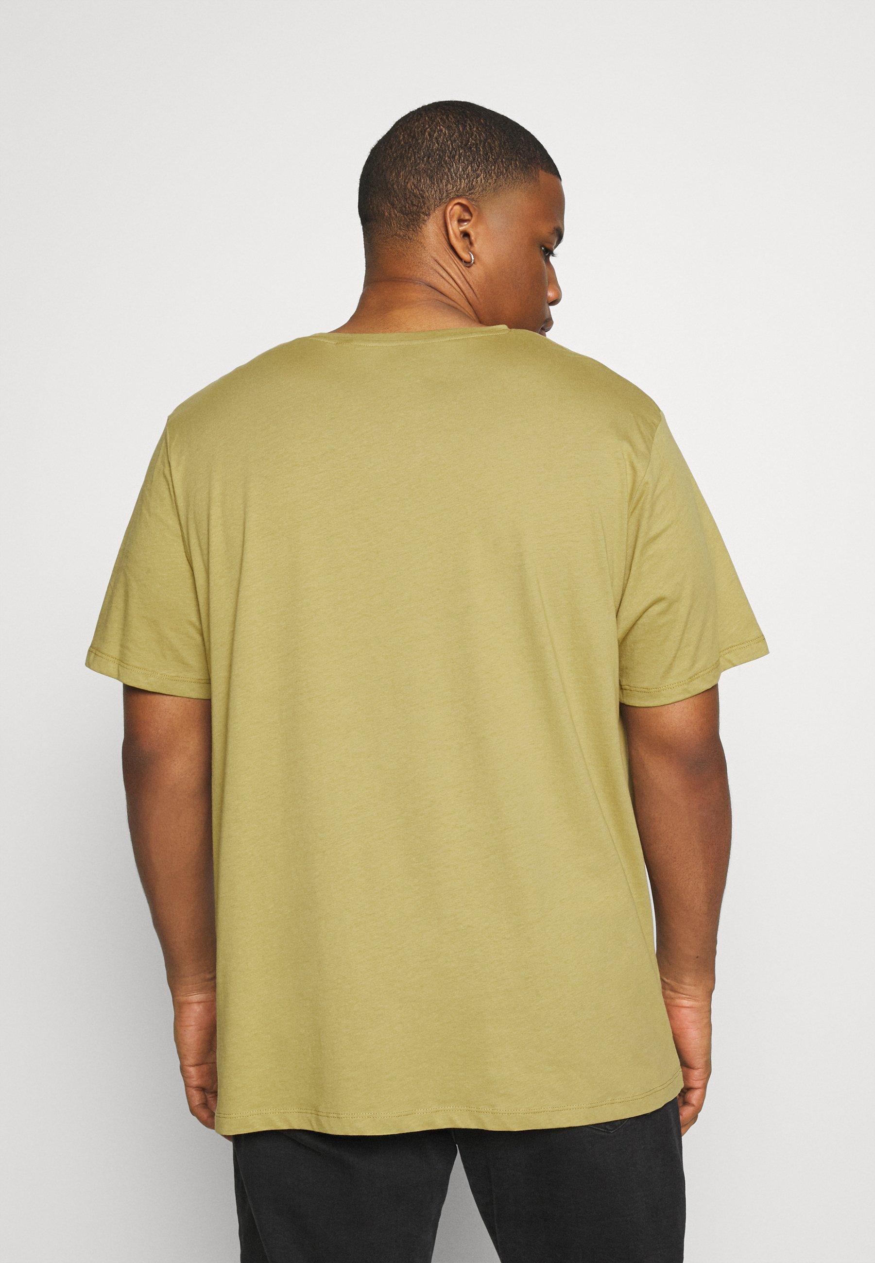Jack & Jones JORFLEXER 2 PACK - Print T-shirt - khaki/black siDGl