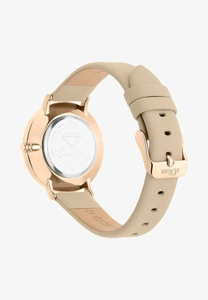S.OLIVER DAMEN-UHREN ANALOG QUARZ - Watch - beige