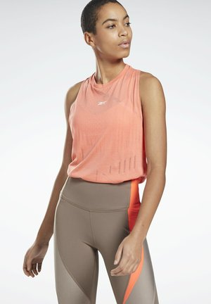 BURNOUT TANK TOP - Topper - salmon