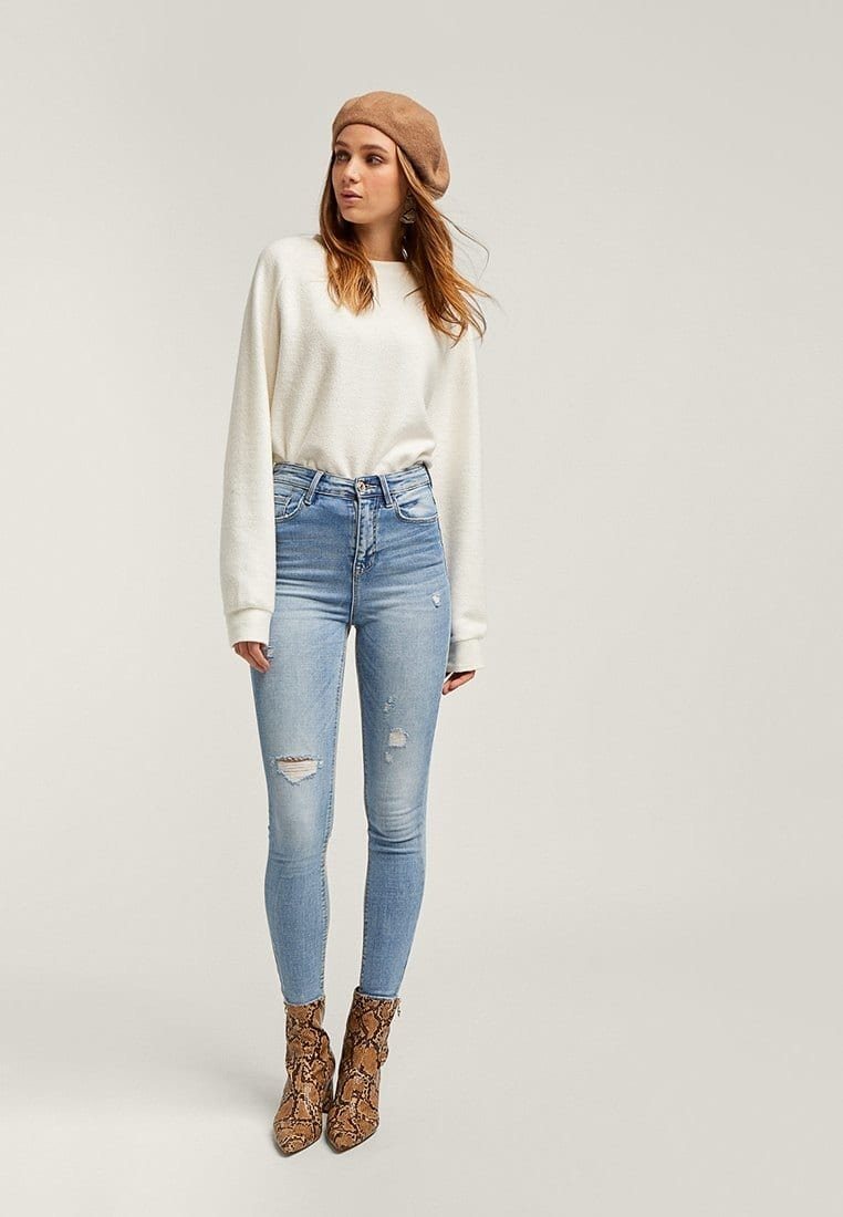 Stradivarius - Jeans Skinny Fit - light-blue denim
