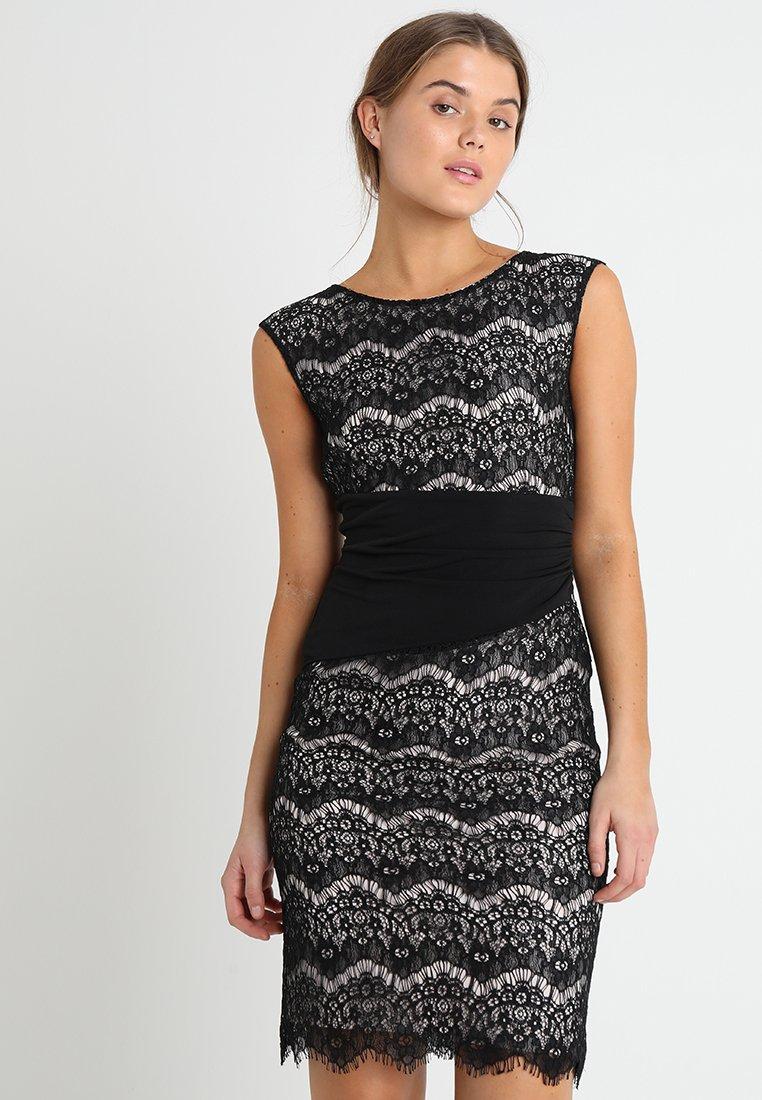Swing Cocktailkleid/festliches Kleid - schwarz/hellrosa ...