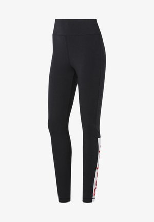 TRAINING ESSENTIALS LINEAR LOGO LEGGINGS - Tights - black