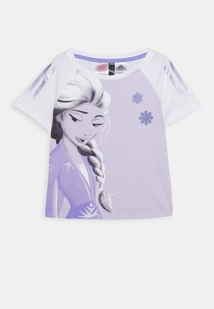 TEE - T-shirt imprimé - white/light purple