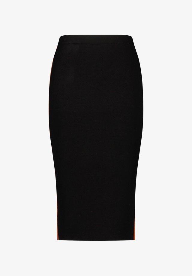 AUS FEINEM STRICK - Pencil skirt - schwarz