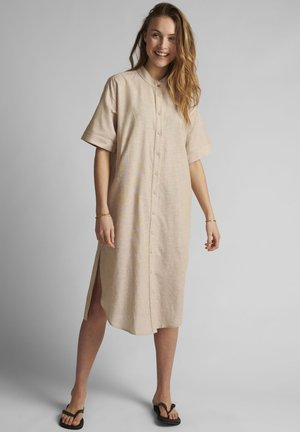 Shirt dress - warm sand