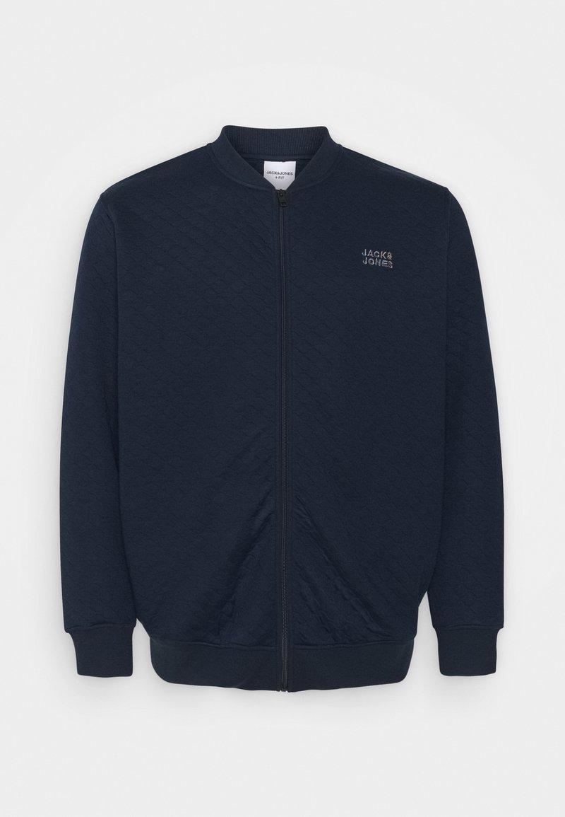 Jack & Jones - JCOCUT ZIP BASEBALLPS - Felpa aperta - navy blazer
