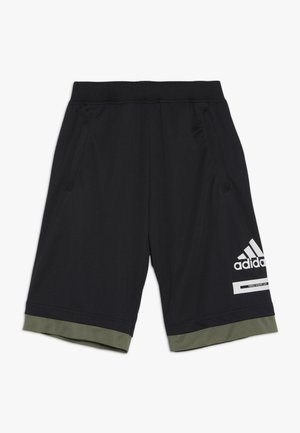 BOLD - Sports shorts - black/legend green/white