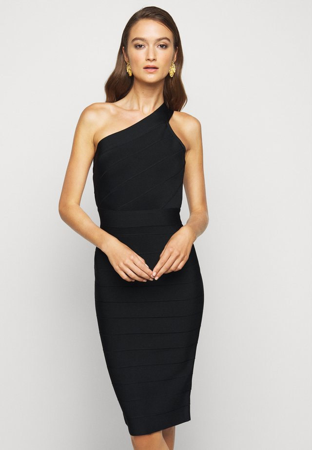 ONE SHOULDER ICONIC - Shift dress - black