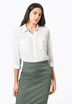 IN OVERSIZE - Button-down blouse - offwhite