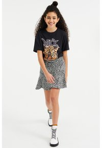 WE Fashion - Print T-shirt - black - 1