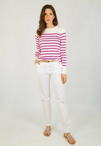Armor lux - PULL MARIN GROIX EN COTON - Jumper - white/neon pink - 1