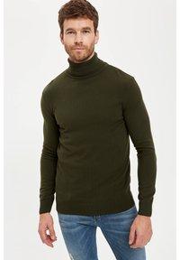 DeFacto - Stickad tröja - khaki - 3