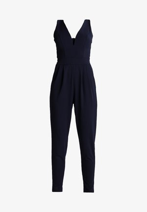 SLEEVELESS PLUNGE  - Jumpsuit - navy