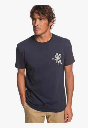 Print T-shirt - nautic blue