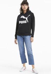 Puma - KVINDE - Felpa con cappuccio - black - 1