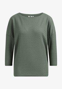 WE Fashion - MET OPENGEWERKT DESSIN - Jumper - sea green - 5