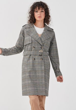 MIT GÜRTEL - Trenchcoat - light grey