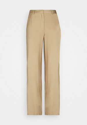 Wide Leg Smart Trouser - Trousers - beige