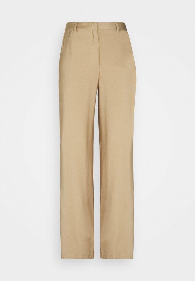 Wide Leg Smart Trouser - Trousers - beige